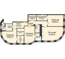 4 комнатная квартира 149,5 м² в ЖК Плотничный, дом № 2 - планировка