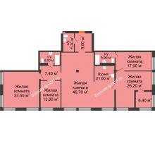 5 комнатная квартира 191,3 м², ЖК Богатяновский - планировка