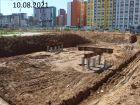 Ход строительства дома № 10 в ЖК Новая Кузнечиха - фото 2, Август 2021