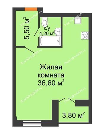 Студия 48,2 м² - ЖК Дом на 18-й Линии, 3