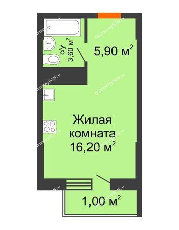 Студия 26,7 м² - ЖК Клубный дом на Мечникова