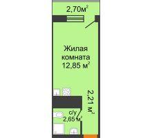 Студия 18,51 м², ЖК Старт - планировка