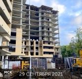 Ход строительства дома Литер 1 в ЖК Грин Парк -