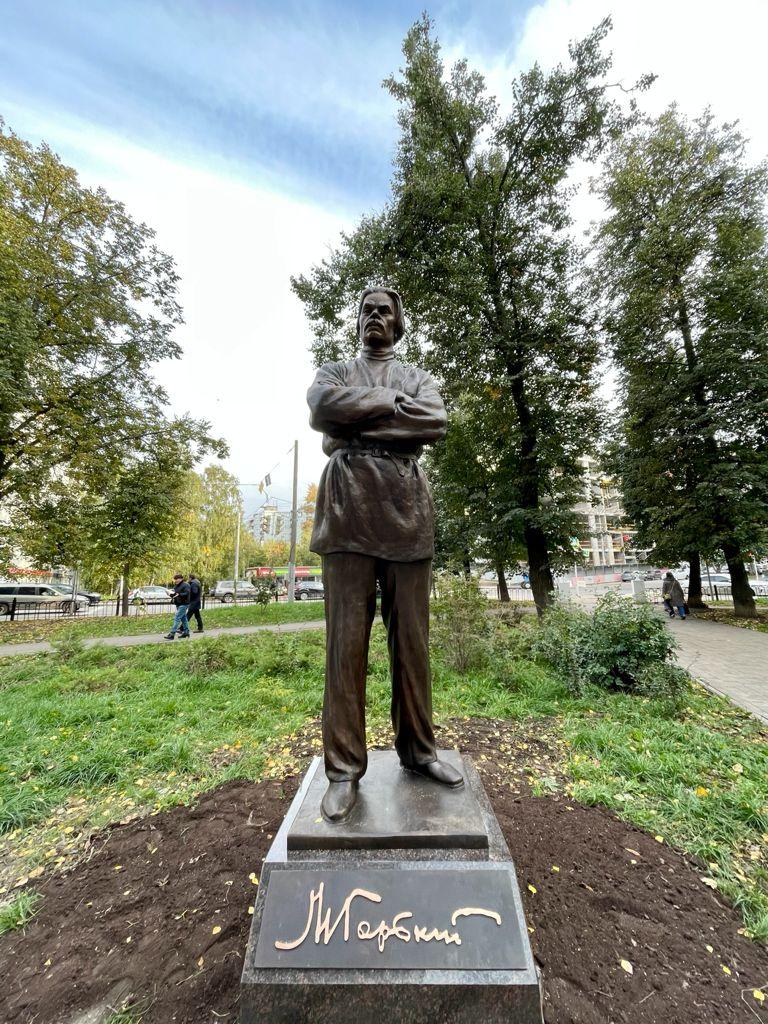 Скульптуру Горького открыли в Ковалихинском сквере в Нижнем Новгороде - фото 1