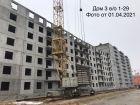 Ход строительства дома № 3 в ЖК Корабли - фото 24, Апрель 2021