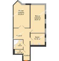Студия 108,35 м², Жилой дом на ул. Платонова, 9,11 - планировка