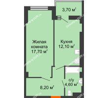 1 комнатная квартира 45,1 м² - ЖК Уютный дом на Мечникова
