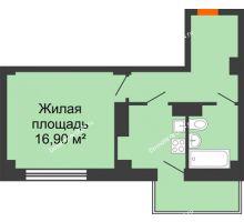 1 комнатная квартира 37,82 м² в ЖК Сокол Градъ, дом Литер 6 - планировка