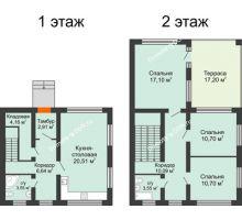 3 комнатная квартира 130 м² в КП Любовь, дом Проект 1 - планировка