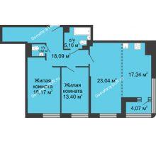 3 комнатная квартира 98,6 м², ЖК Бристоль - планировка