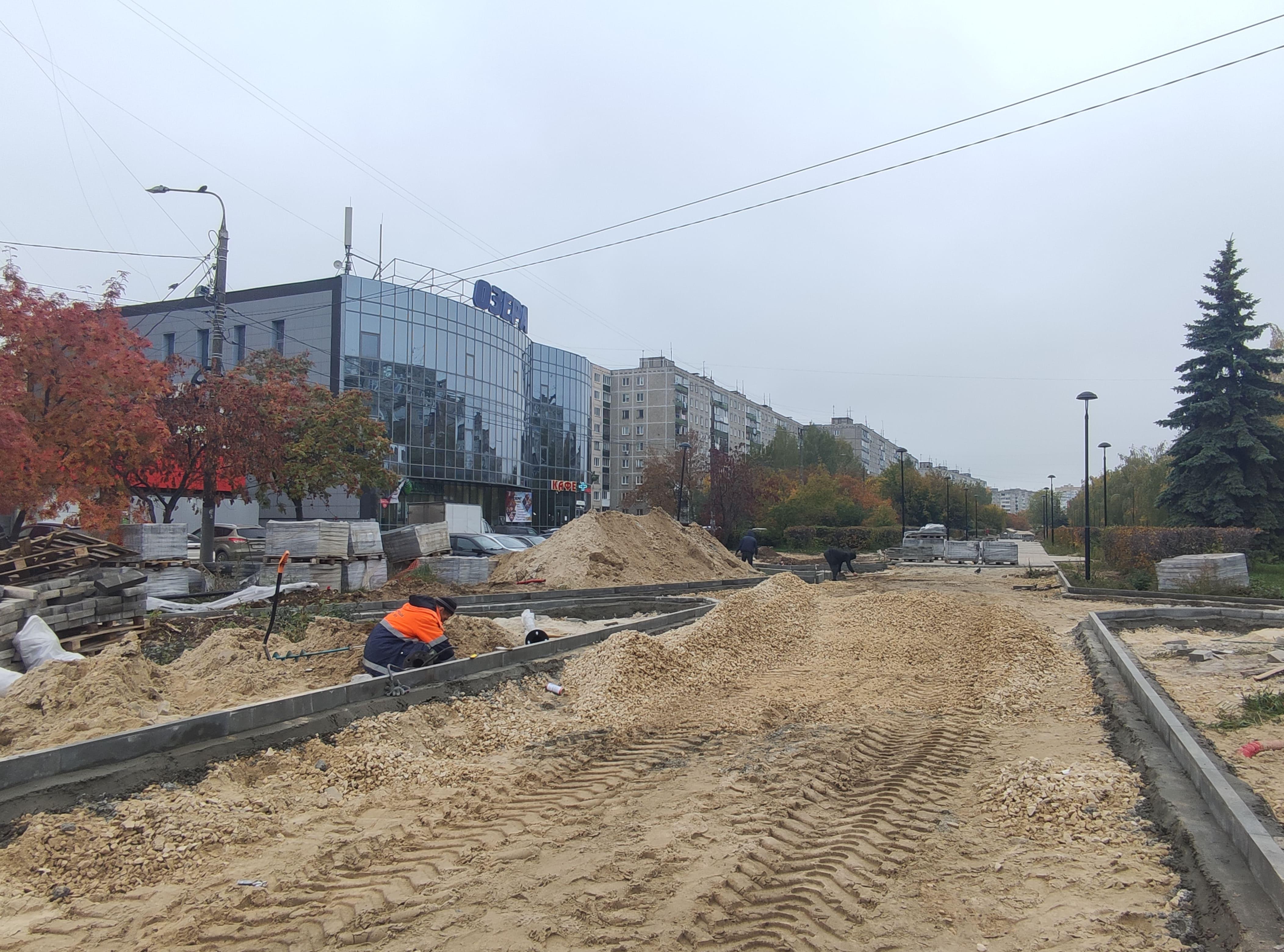 Благоустройство проспекта 70 лет Октября возобновили в Нижнем Новгороде - фото 1