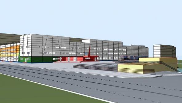 Многоуровневый гаражный комплекс напересечении улиц Г.Лопатина иВерхнепечерской