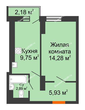 1 комнатная квартира 32,9 м² в ЖК Мечников, дом ул. Мечникова, 37